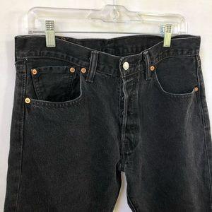 Levi's Jeans - Levi's 501 Black Denim Jeans